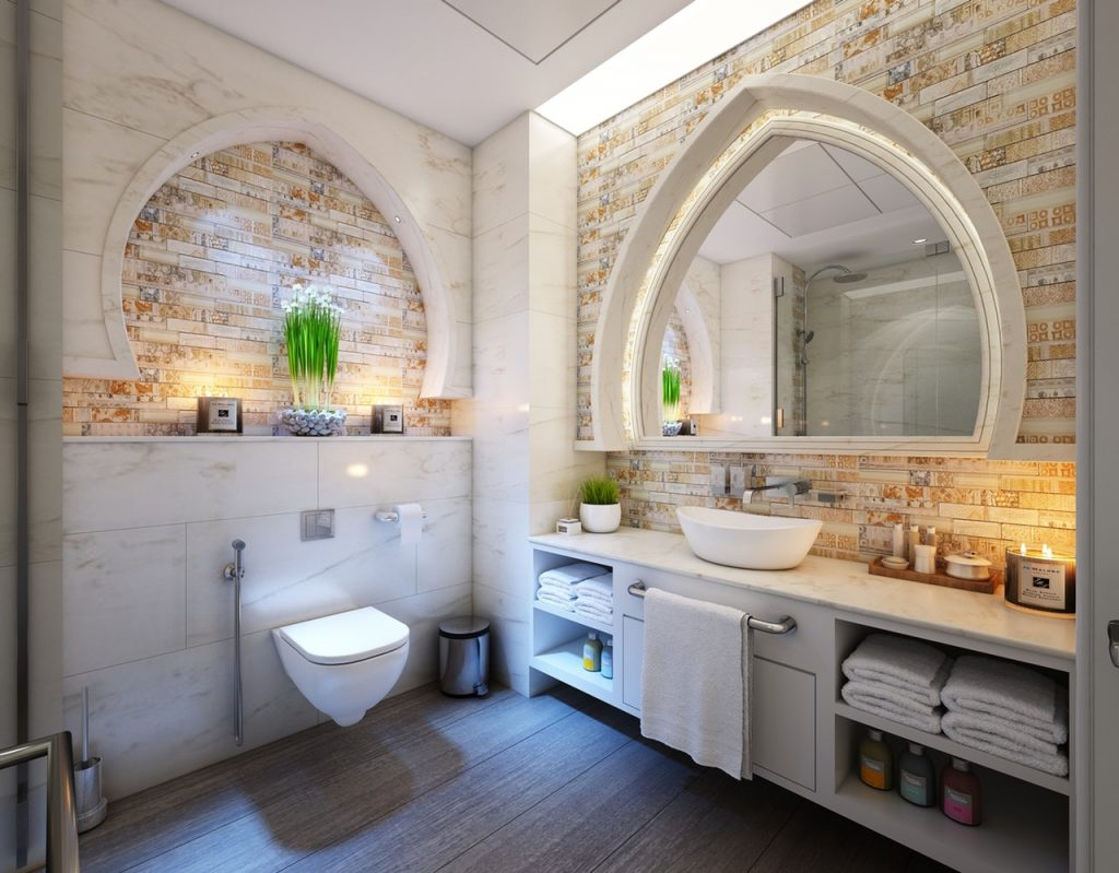 Bathroom architecture and layout